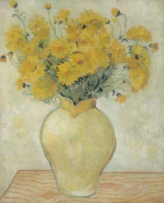 Christopher Wood - Yellow Chrysanthemums