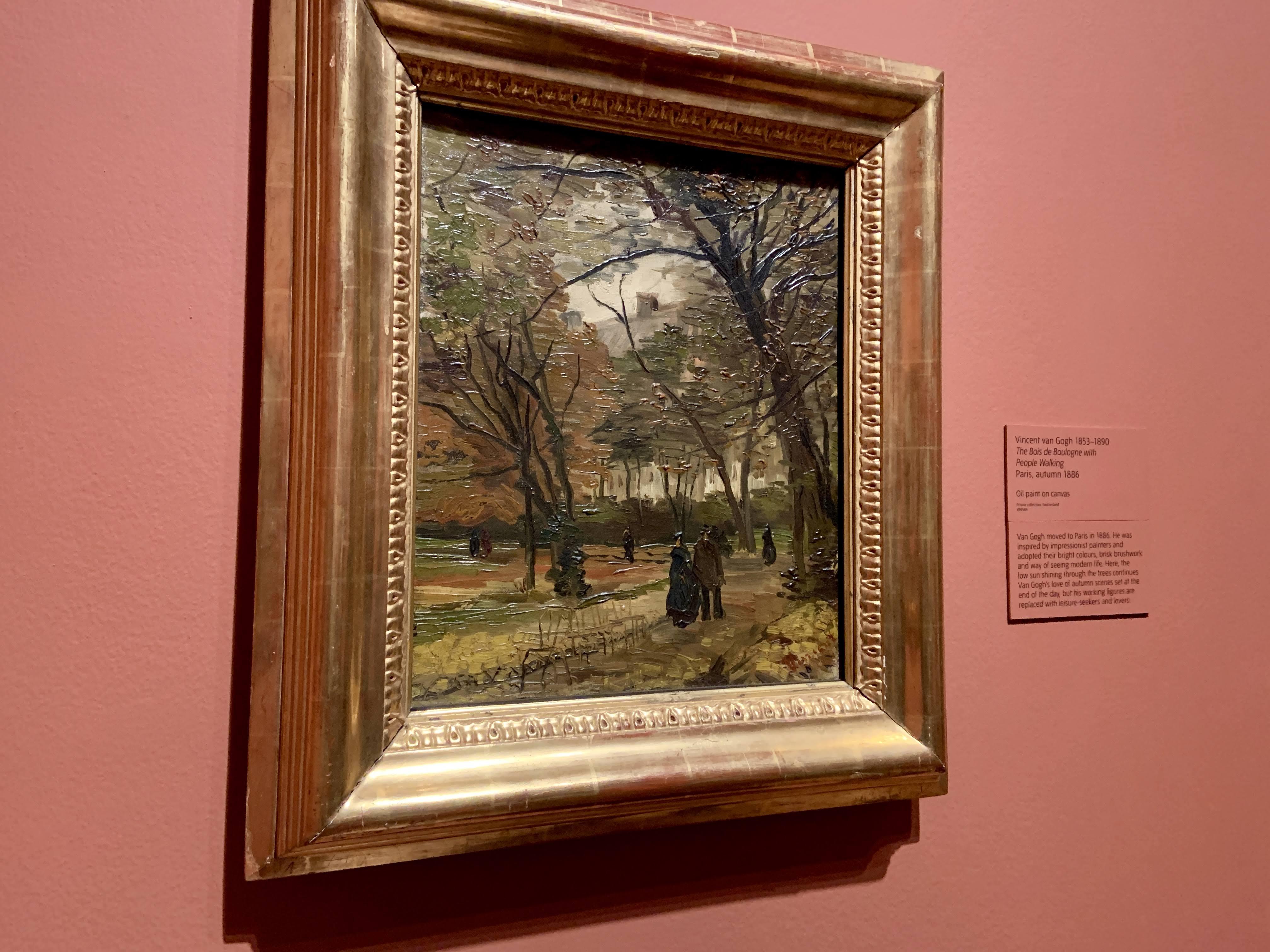 Vincent van Gogh - The Bois de Boulogne with People Walking, 1886
