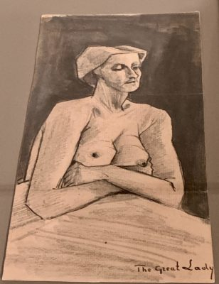 Sketch by Vincent van Gogh, 'Nude Woman (The Great Lady)', enclosed in letter to Theo van Gogh, c. 6 April 1882